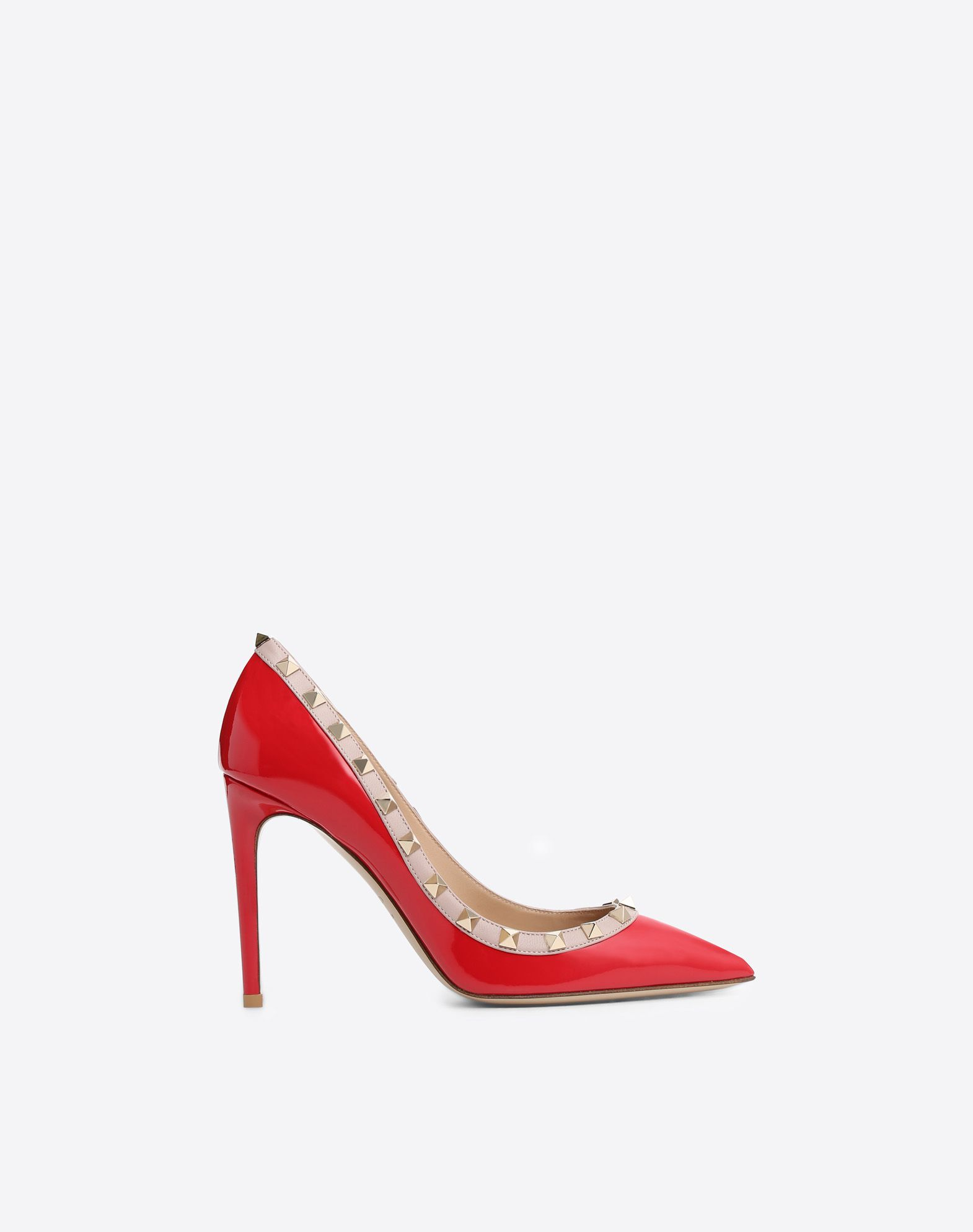 VALENTINO Metal Applications Solid colour Leather sole Narrow toeline Spike heel  11141524to