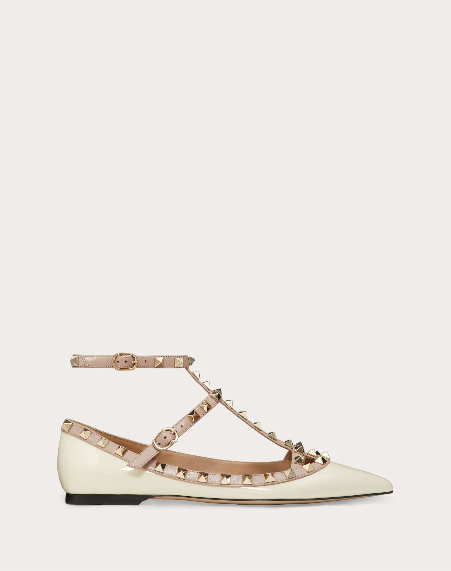VALENTINO Metal Applications Solid colour Buckle Leather sole Narrow toeline Varnished effect  11141560wd