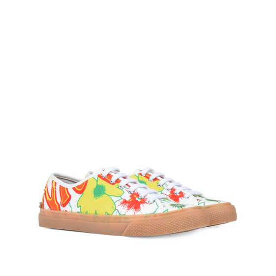Floral Canvas Sneakers