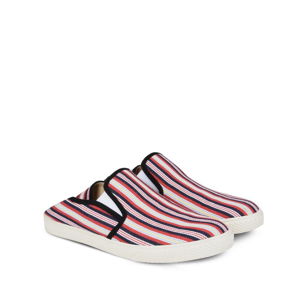 Striped Canvas Slip-on Sneakers - STELLA McCARTNEY MEN