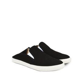 Black Canvas Slip-on Sneakers