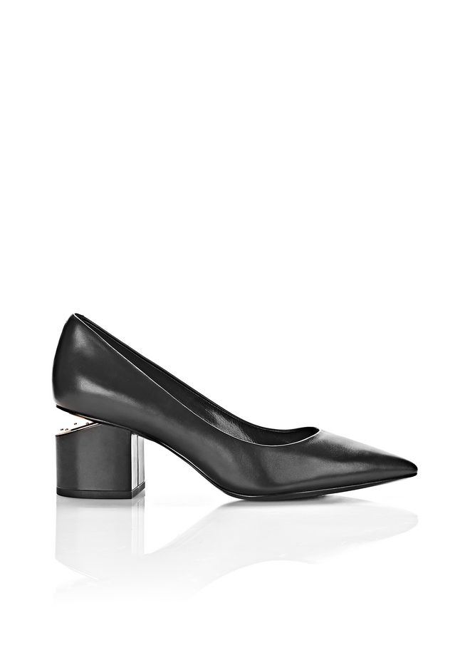 ALEXANDER WANG classics SIMONA MID PUMP WITH RHODIUM