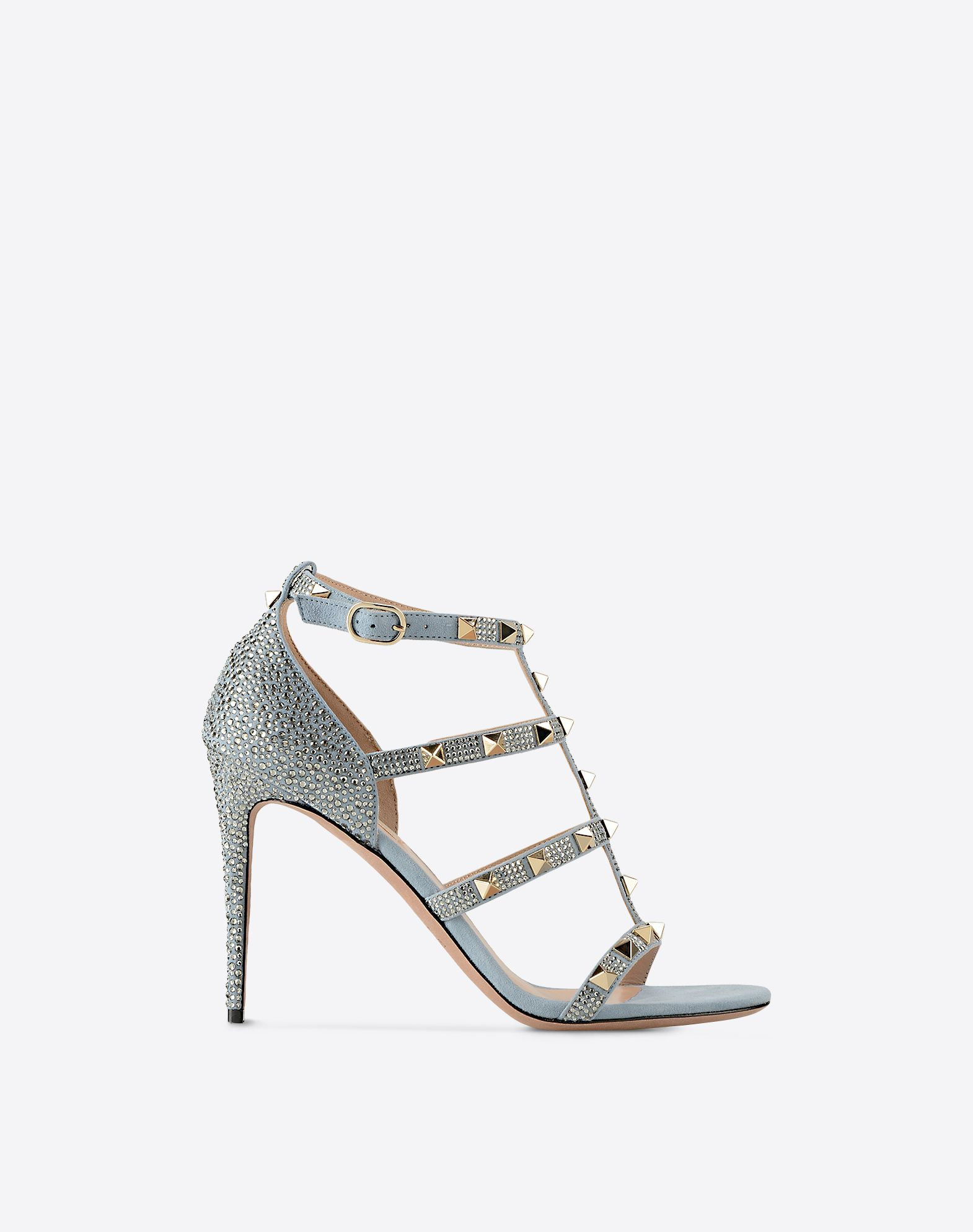 VALENTINO Metal Applications Solid colour Buckling ankle strap closure  11149747wu