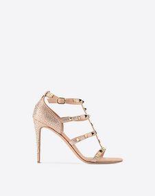 VALENTINO GARAVANI Sandal D Rockstud sandal with crystals f