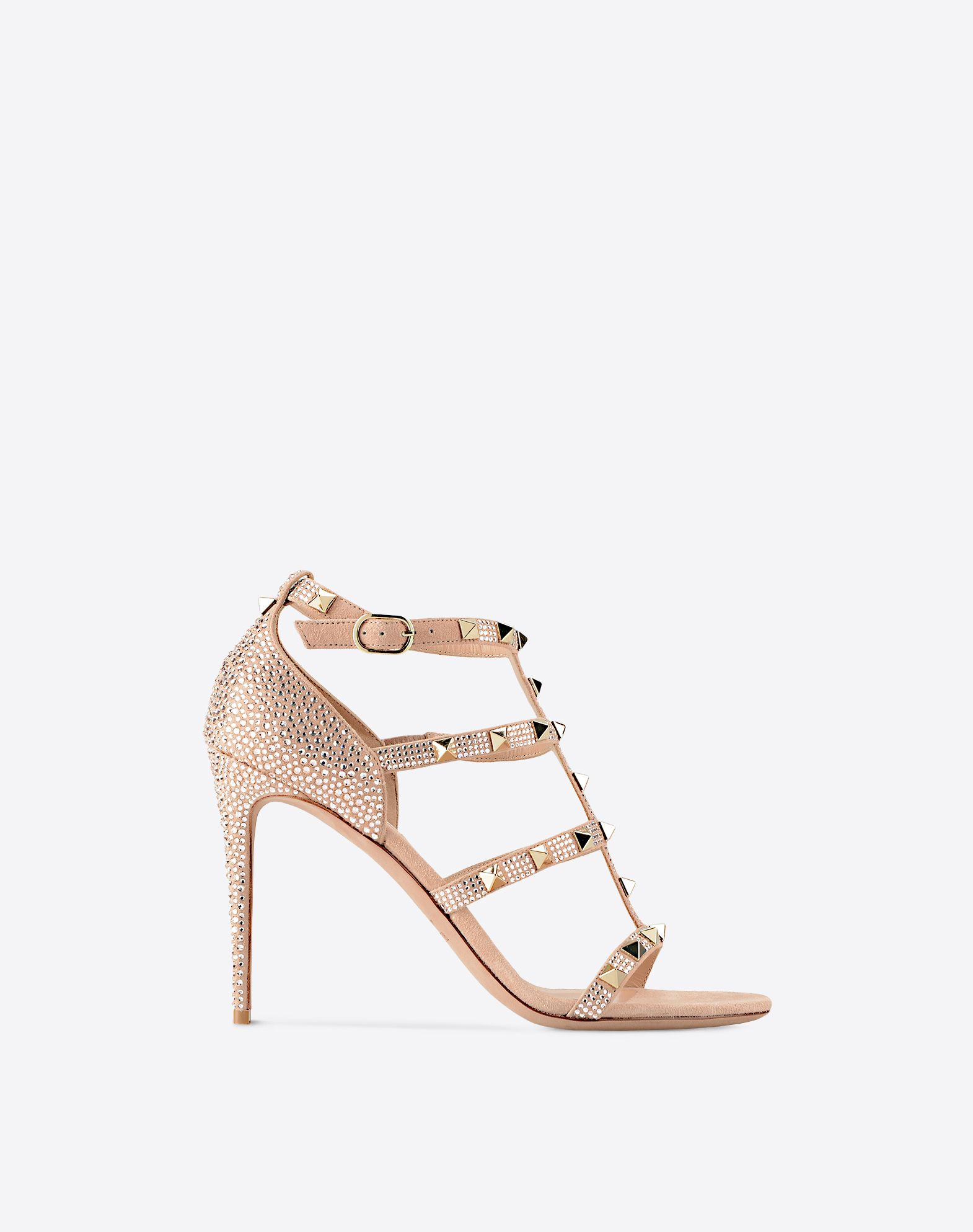 VALENTINO Metal Applications Solid colour Buckling ankle strap closure  11149756pj