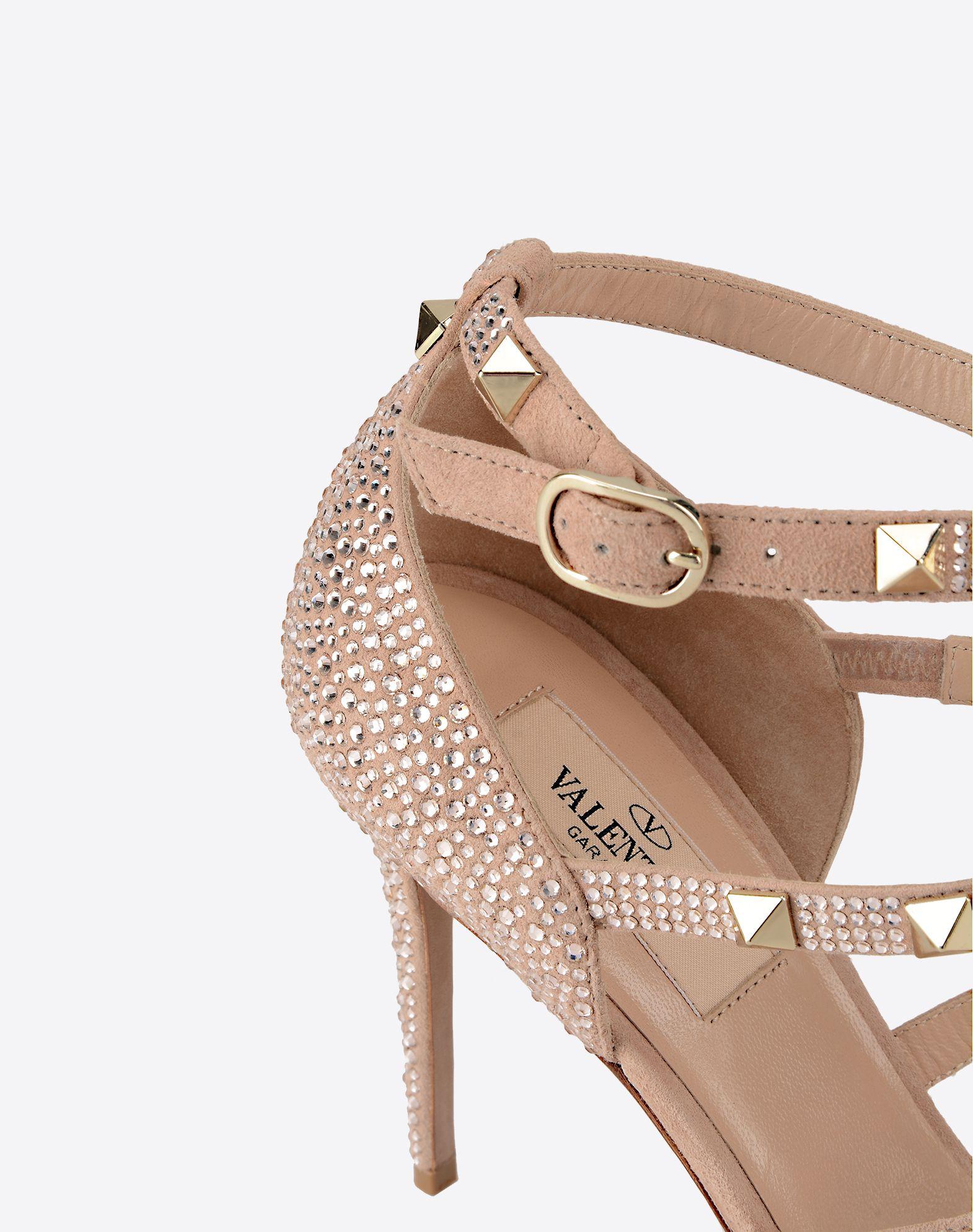 VALENTINO GARAVANI Rockstud sandal with crystals Sandal D a