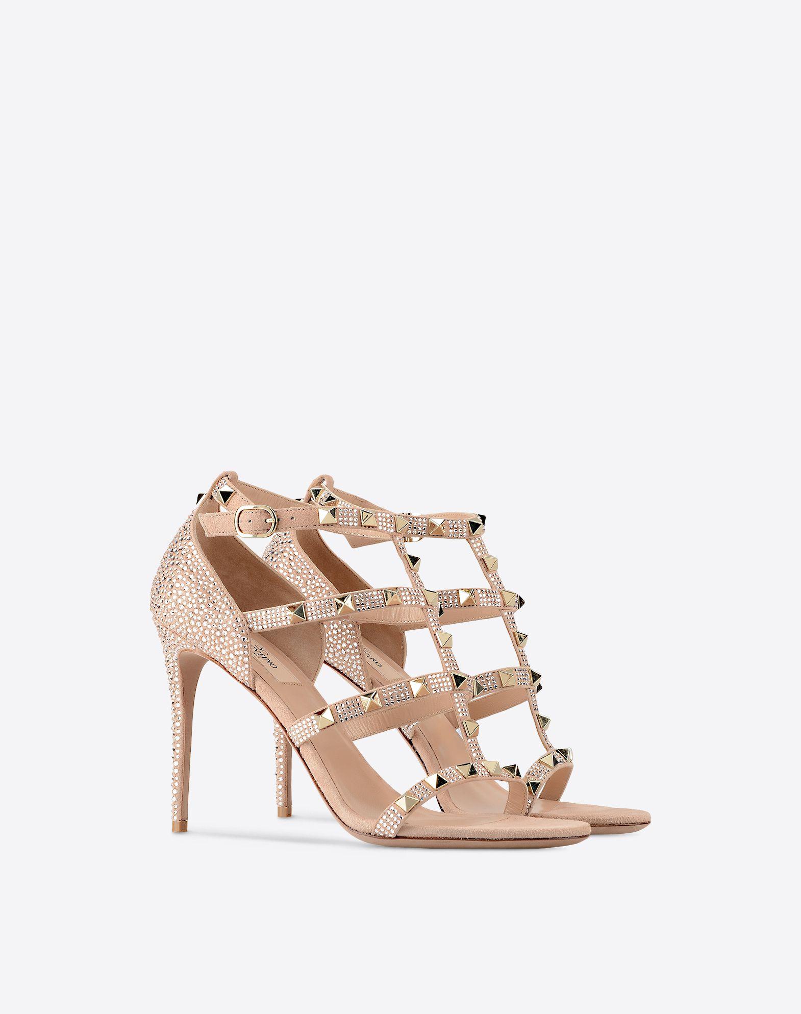 VALENTINO GARAVANI Rockstud sandal with crystals Sandal D r