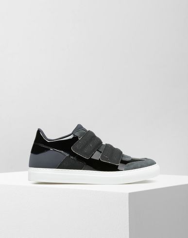 MM6 by MAISON MARGIELA Skaters D Calfskin leather strap sneakers f