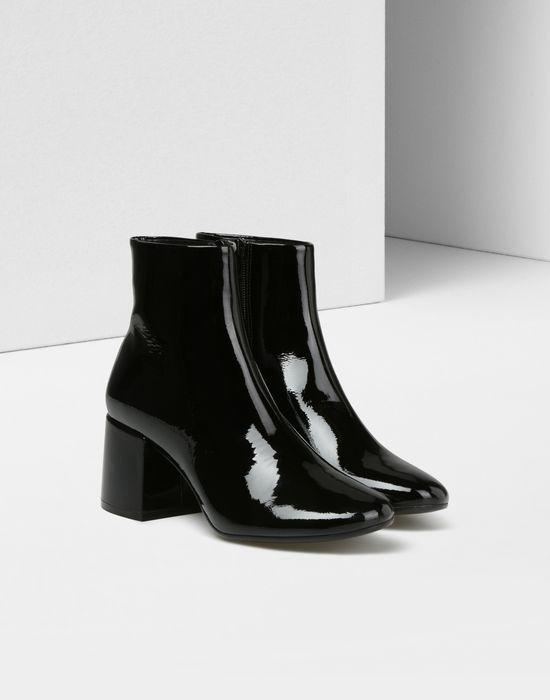 Maison Margiela Black Patent Flare Heel Boots XkoSBh