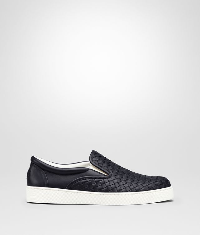 BOTTEGA VENETA DODGER SNEAKER IN DARK NAVY INTRECCIATO NAPPA Trainers [*** pickupInStoreShippingNotGuaranteed_info ***] fp