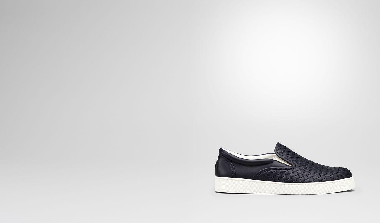 dark navy intrecciato nappa sneaker landing