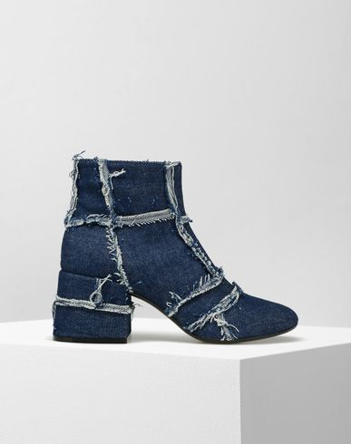 MM6 by MAISON MARGIELA Ankle boots D Denim raw cut edge ankle boots f