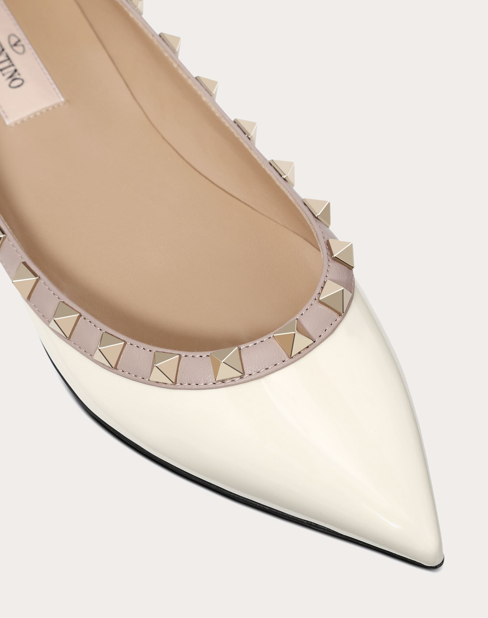VALENTINO Metal Applications Varnished effect Two-tone pattern Narrow toeline Flat heel  11151378wl