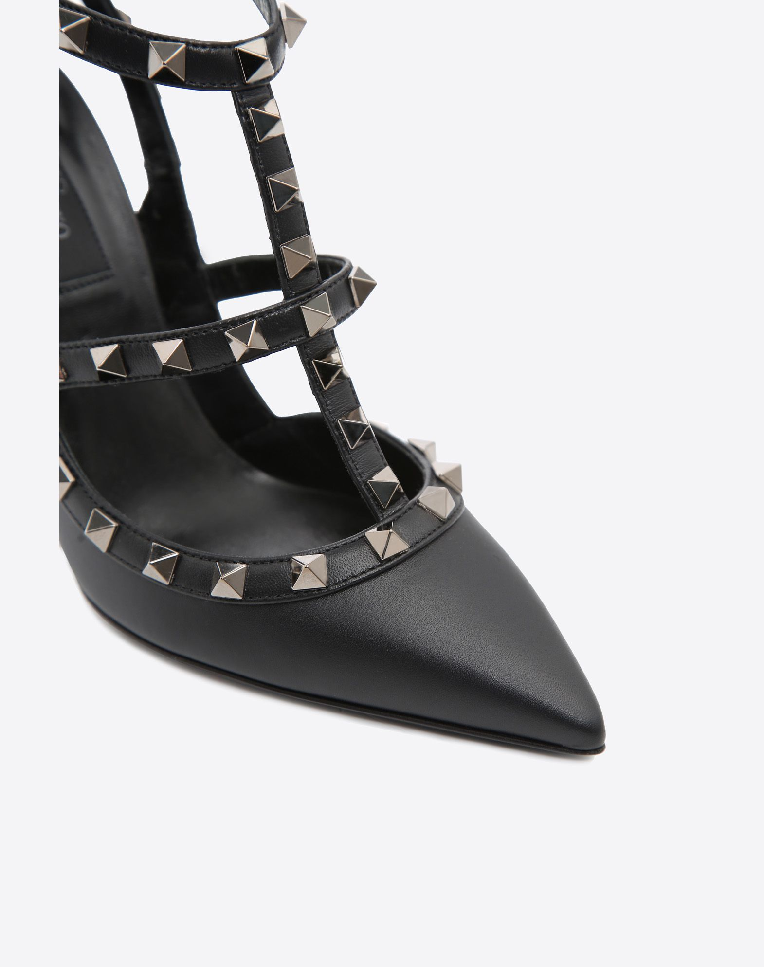 VALENTINO Solid color Metal Applications Buckling ankle strap closure  11151391xm