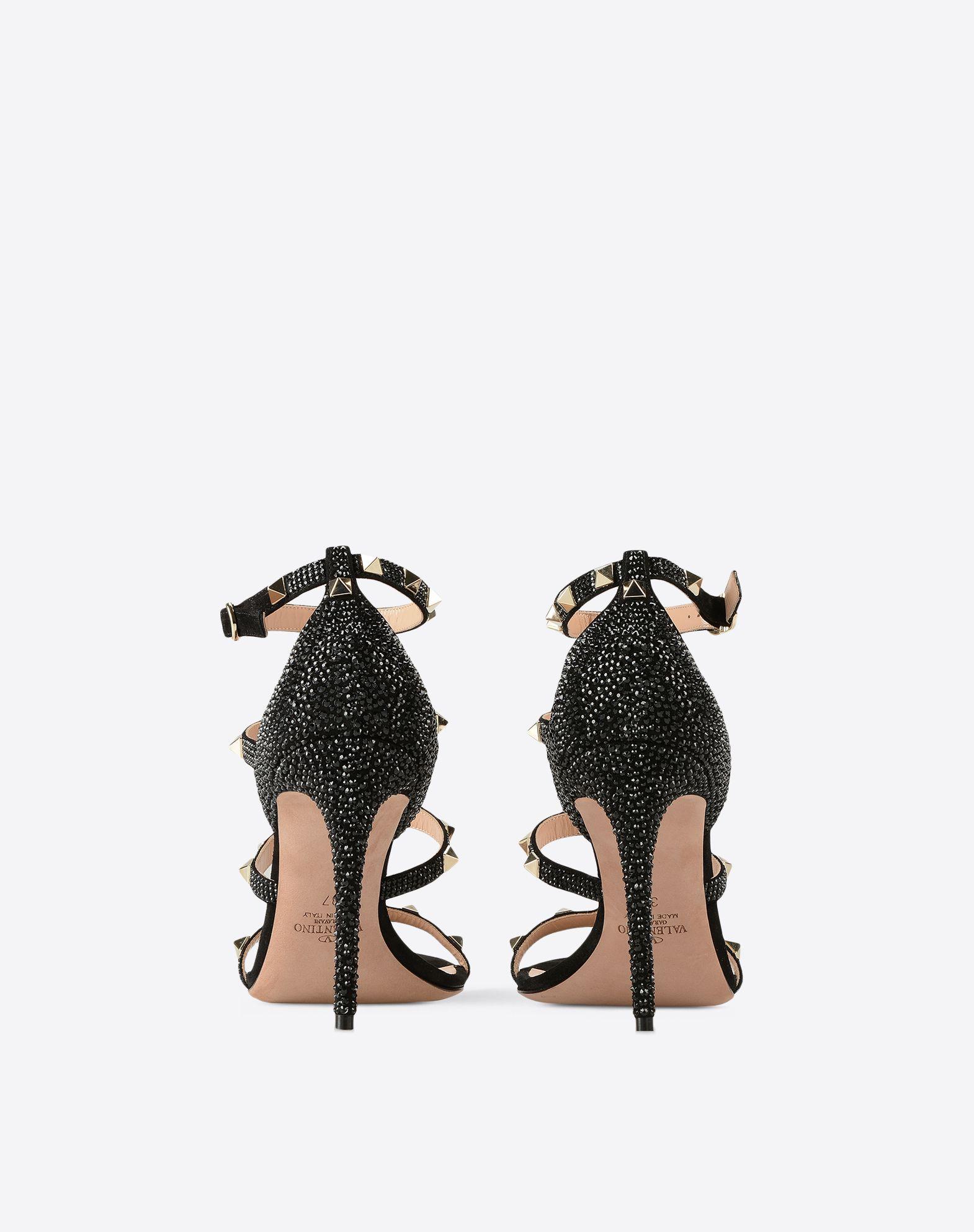 VALENTINO GARAVANI Rockstud sandal with crystals Sandal D d