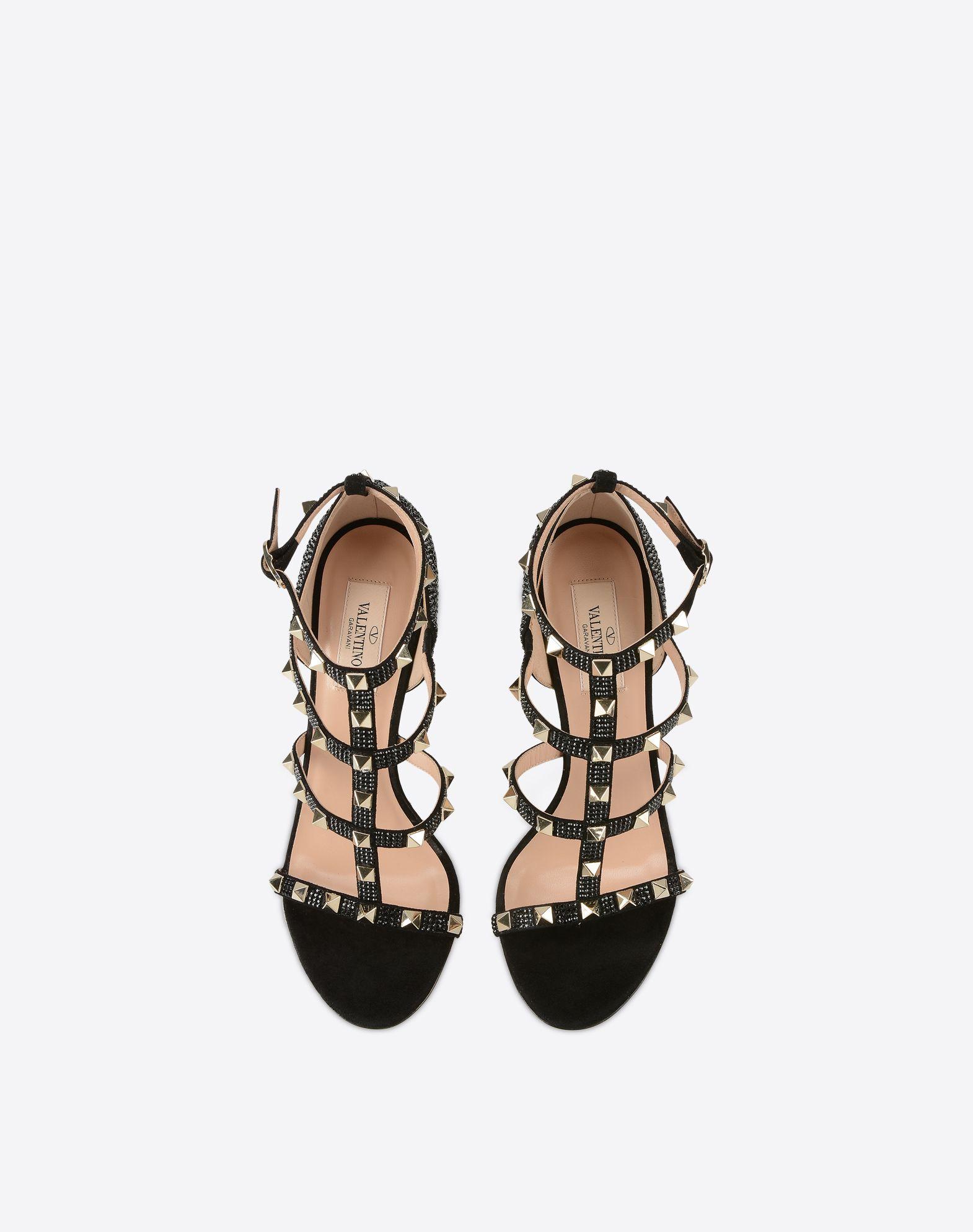 VALENTINO GARAVANI Rockstud sandal with crystals Sandal D e