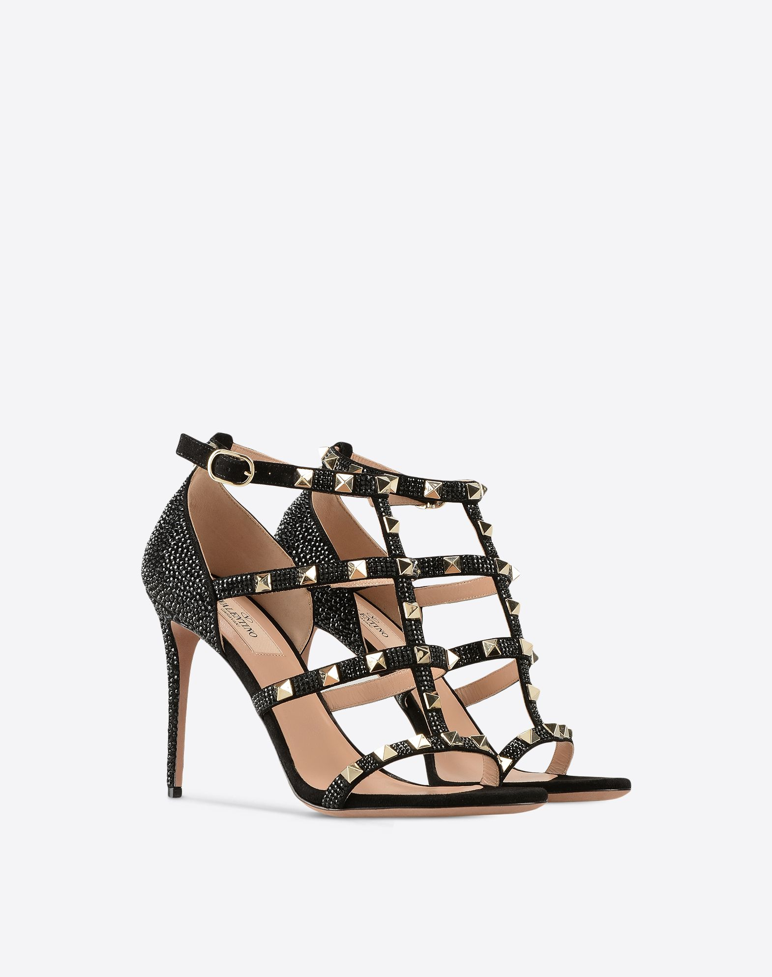 VALENTINO Metal Applications Solid colour Buckling ankle strap closure  11153130ki