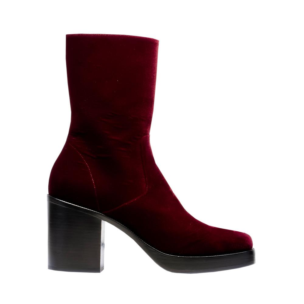 BALENCIAGA Andere Schuhe U Plateau-Booties aus Samt f