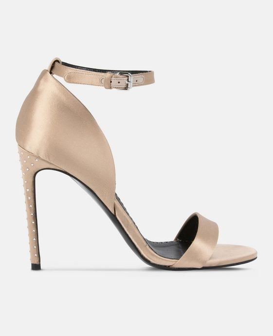 STELLA McCARTNEY Silk Satin Sandals Courts D c