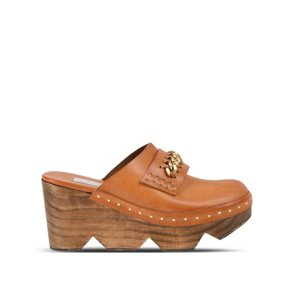 Burnt Orange Clogs - STELLA MCCARTNEY