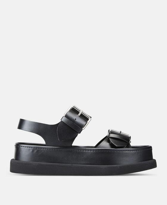 Sandales noires à boucle