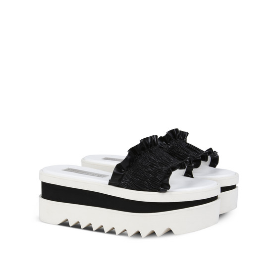 Ruffle Slide Shoes