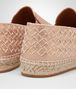 BOTTEGA VENETA GALA ESPADRILLES IN ROSE GOLD CANVAS, INTRECCIATO DETAILS Flat D ap