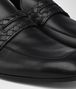 BOTTEGA VENETA ANWICK MOCASSIN IN NERO CALF, INTRECCIATO DETAILS Mocassin or Slipper U ap
