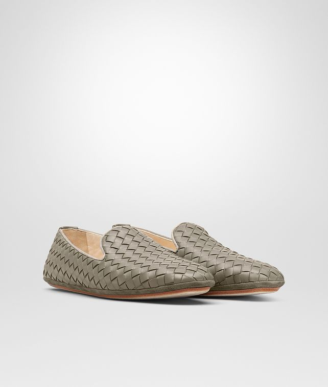 BOTTEGA VENETA FIANDRA SLIPPER IN FUME' INTRECCIATO NAPPA Flat Woman fp