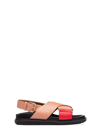 Marni Criss-cross fussbett in calfskin Woman