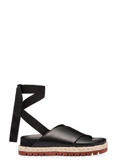Marni Fussbett in calfskin with ribbon lacing Woman