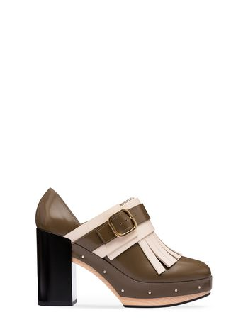 Marni Moccasin in calfskin with fringes Woman