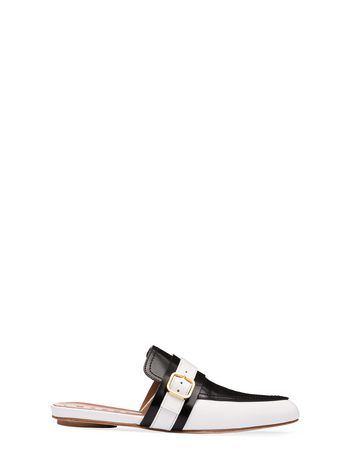 Marni Mule in bi-colored calfskin Woman
