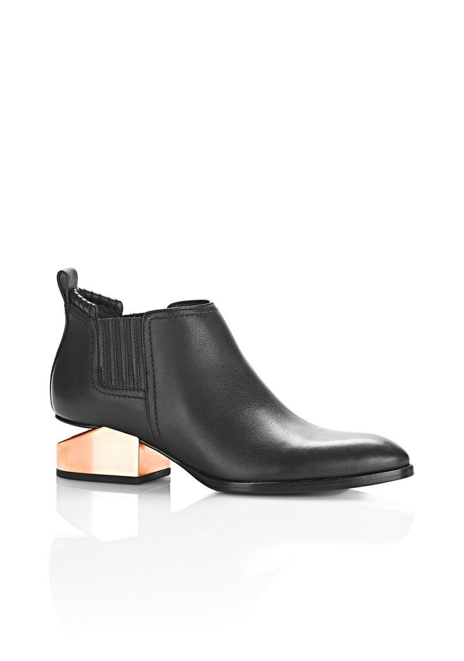 ALEXANDER WANG Boots KORI OXFORD WITH ROSE GOLD METAL HEEL