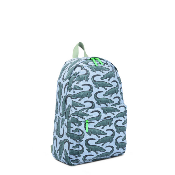 Blue Crocodile Print Bang Backpack