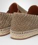 BOTTEGA VENETA GALA ESPADRILLES IN BRONZE CANVAS, INTRECCIATO DETAILS Flat Woman ap