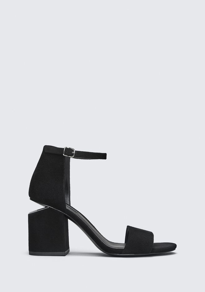 ALEXANDER WANG ABBY SUEDE SANDAL WITH RHODIUM Heels Adult 12_n_f