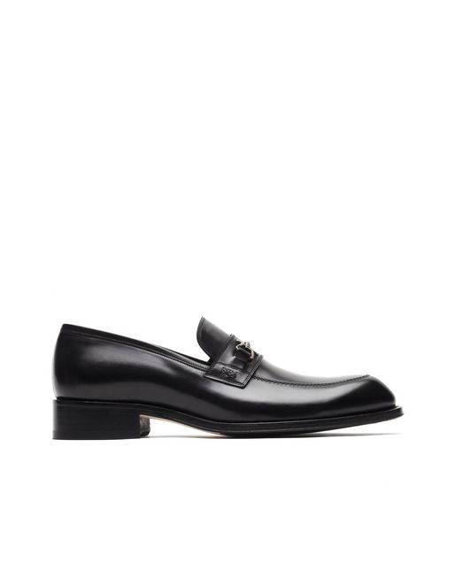 Black Loafer with Metal Detail