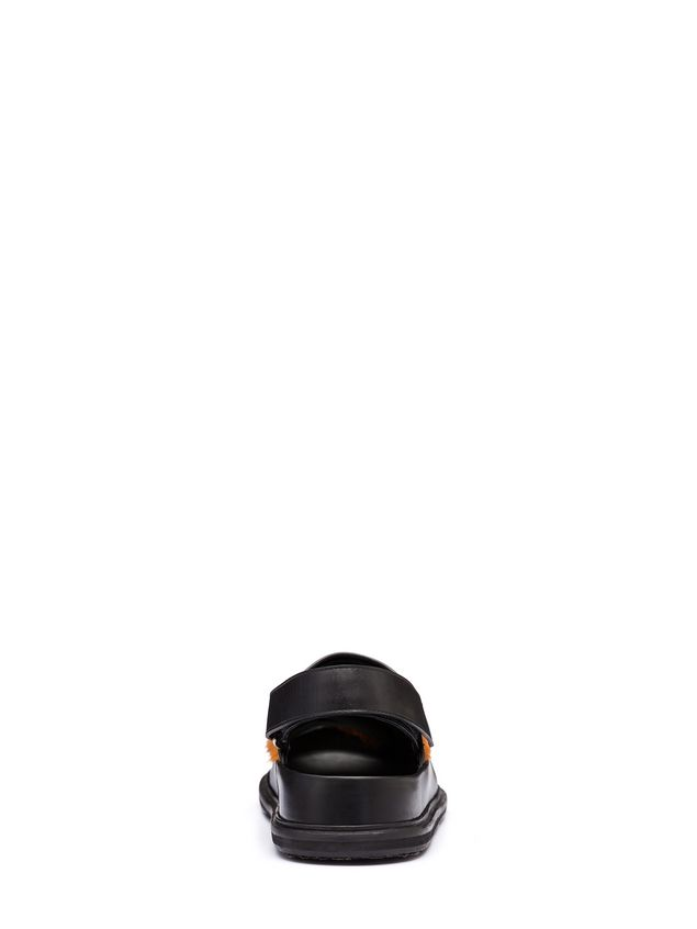Marni Pony calfskin Fussbett sandal Man