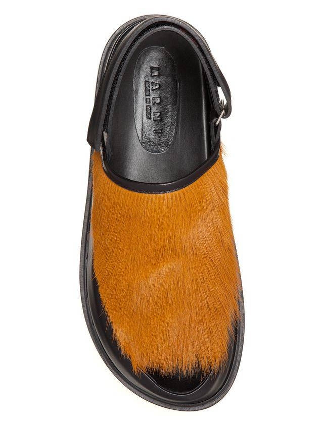 Marni Pony calfskin Fussbett sandal Man - 4