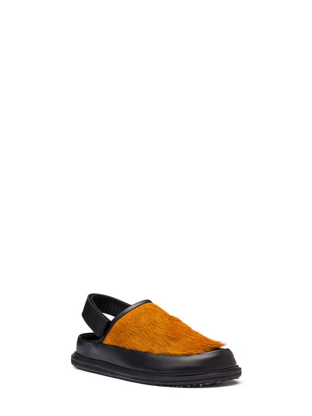 Marni Pony calfskin Fussbett sandal Man - 2