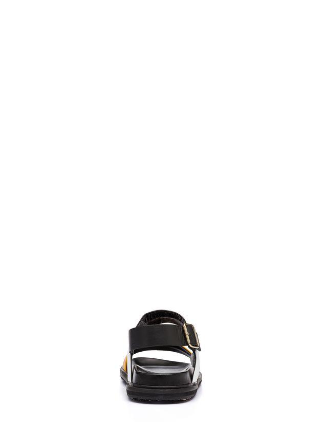 Marni Bi-coloured calfskin sandal Man