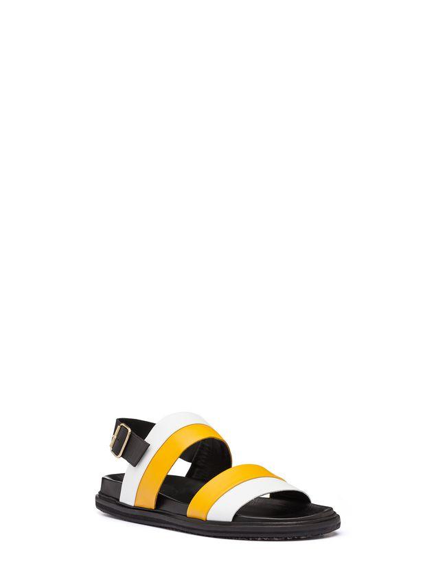 Marni Bi-coloured calfskin sandal Man - 2