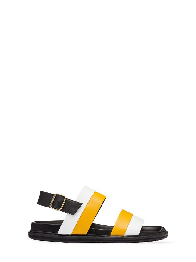 Marni Bi-coloured calfskin sandal Man - 1