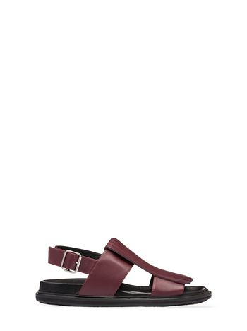 Marni Calfskin sandal with fringes Man