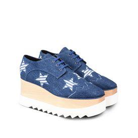 Denim Elyse Striped Star Shoes