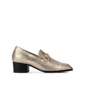 STELLA McCARTNEY Mules D Gold Croco Loafers f