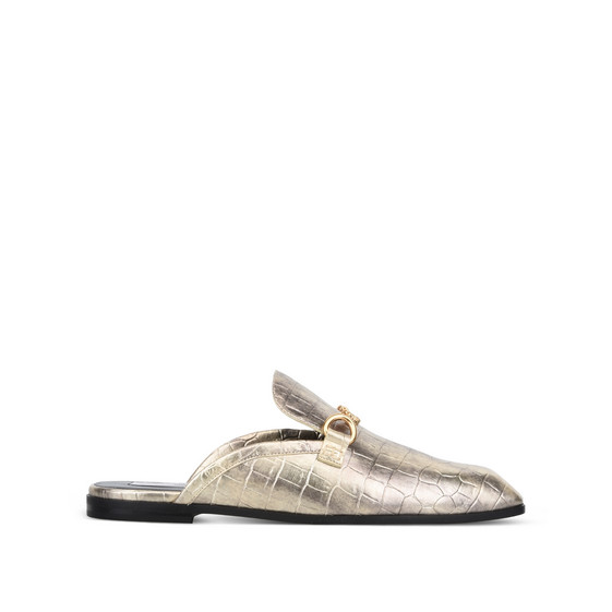 Gold Chain Croco Moccasin