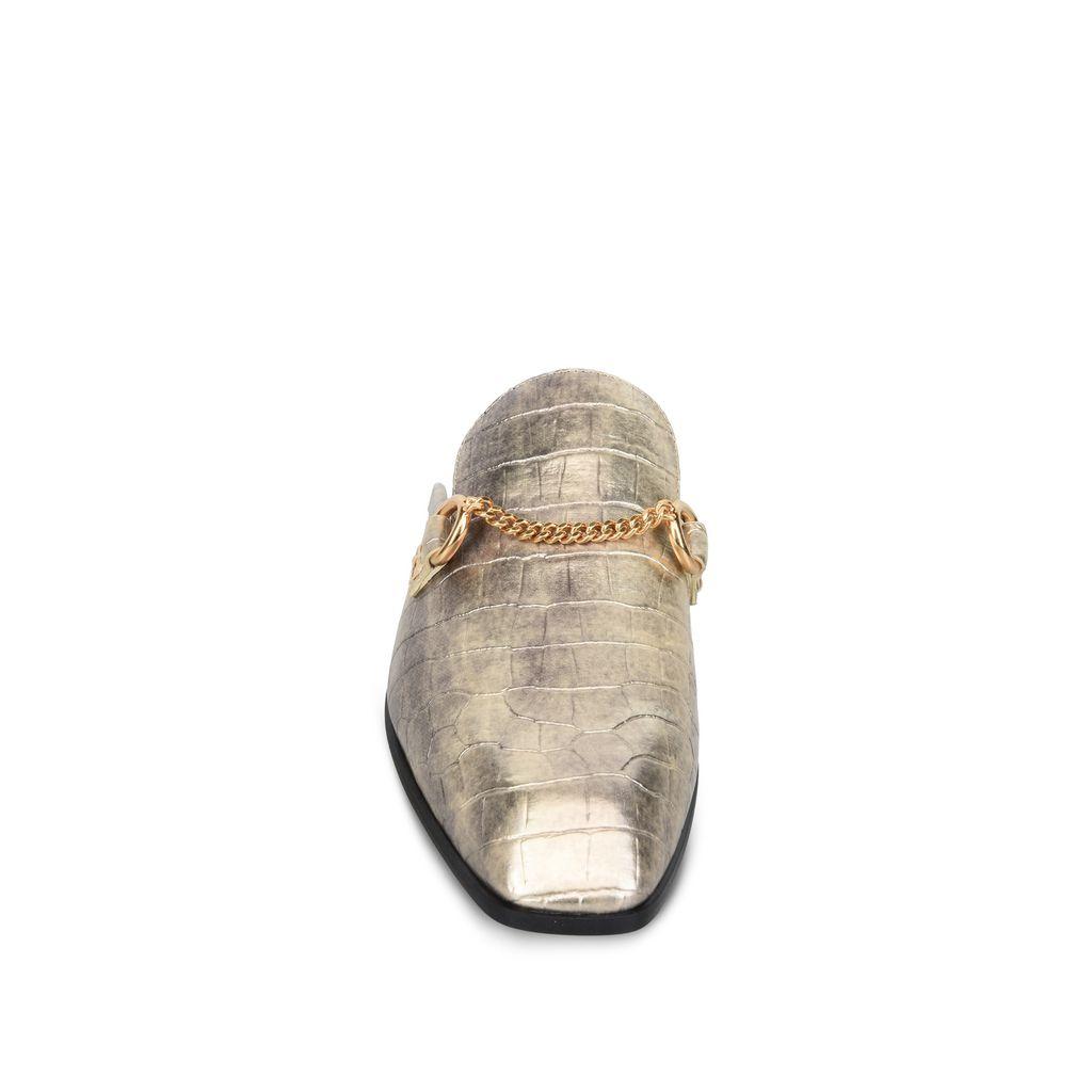 Gold Chain Croco Moccasin  - STELLA MCCARTNEY