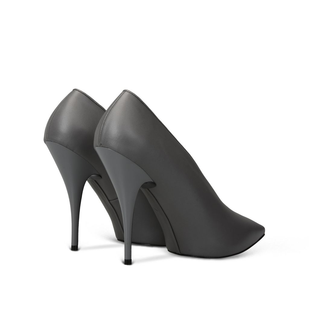 Steel Grey Pointed Pumps - STELLA MCCARTNEY